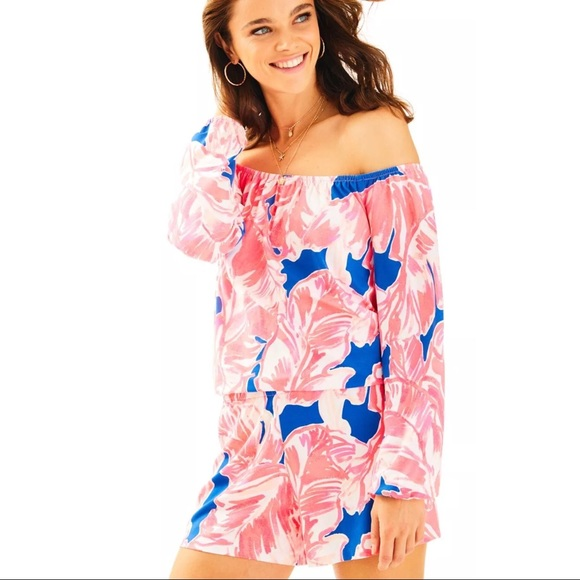 bd3cadfb2aa5 Lilly Pulitzer Lana Romper in Tiki Pink